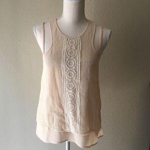 Greylin Cream Knit Tank Top
